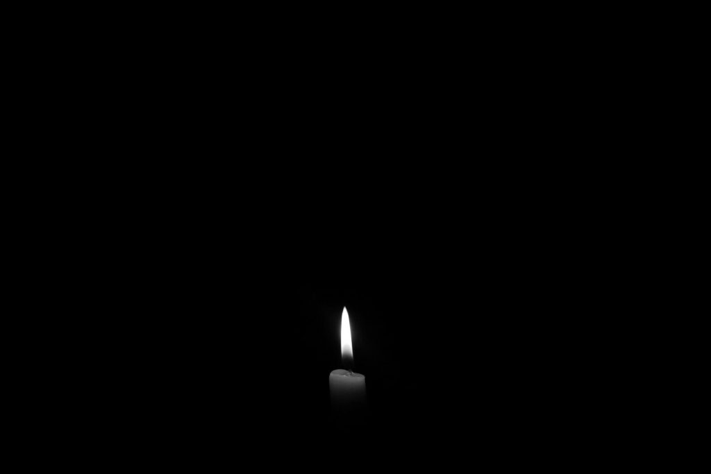 Dark photo with candle