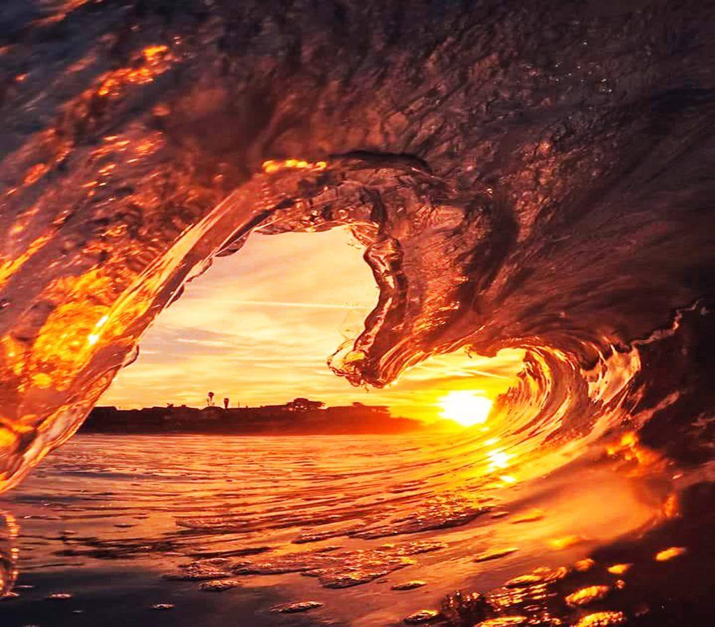 Heart shaped ocean wave
